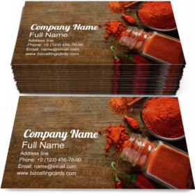 Paprika Pepper Spice Business Card Template