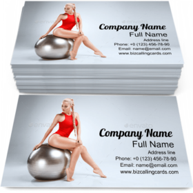 Perfect Fitness Female Business Card Template
