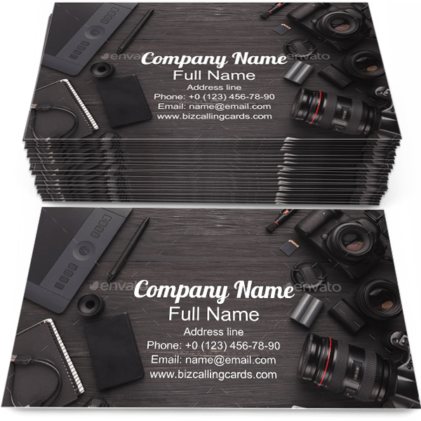 Example of Equipment Business Card Template