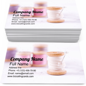 Pool of Threads on Table Business Card Template