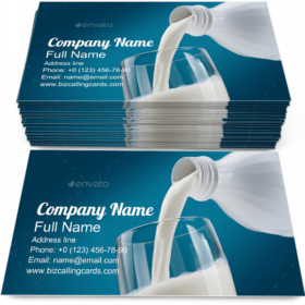 Pouring Fresh Milk Business Card Template