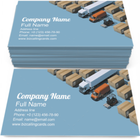 Professional Delivery Business Card Template