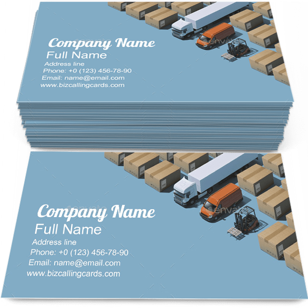 Sample of Deliverycalling card design for advertisements marketing ideas and promote shipment branding identity