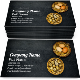 Quail and Chicken Eggs Business Card Template