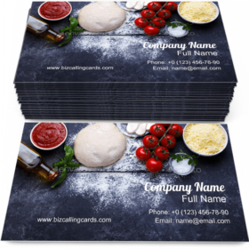 Raw Dough for Pizza Business Card Template