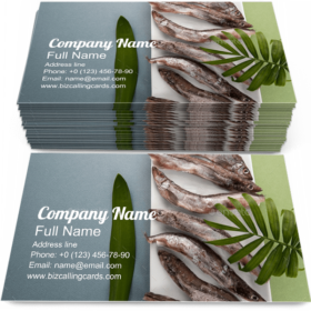 Raw Fresh-Frozen Capelin Business Card Template