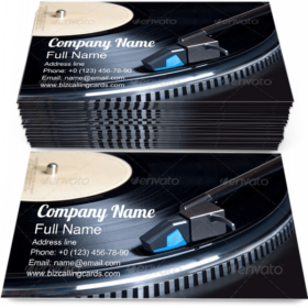 Vinyl Plate Playing Business Card Template