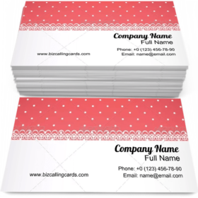 Red Fabric with Polka Dot Business Card Template