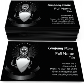 Roaring Winged Lion Business Card Template