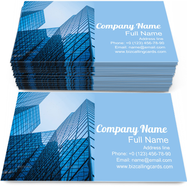 Sample of Skyscraper business card design for advertisements marketing ideas and promote architecture branding identity