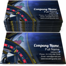 Slot and Roulette Business Card Template