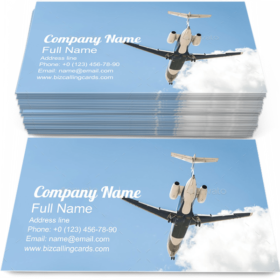 Small Corporate Airplane Business Card Template