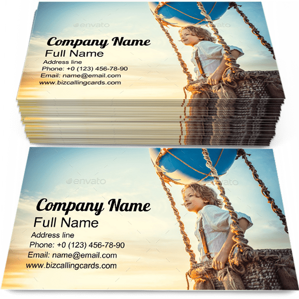 Sample of Smiling Boy calling card design for advertisements marketing ideas and promote Traveling branding identity