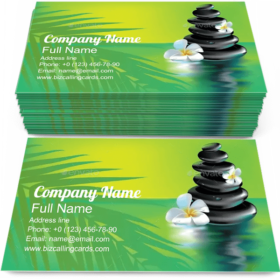 Spa Stones in Tropics Business Card Template