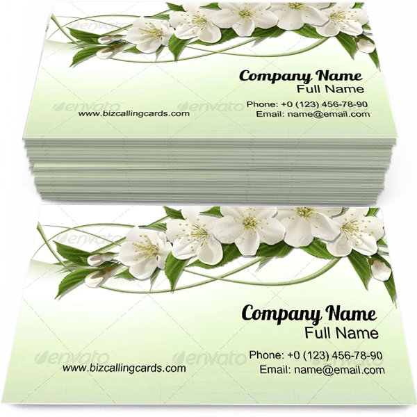 Sample of Cherry Flowers business card design for advertisements marketing ideas and promote Spring branding identity