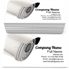 Spy Camera Monitoring Business Card Template