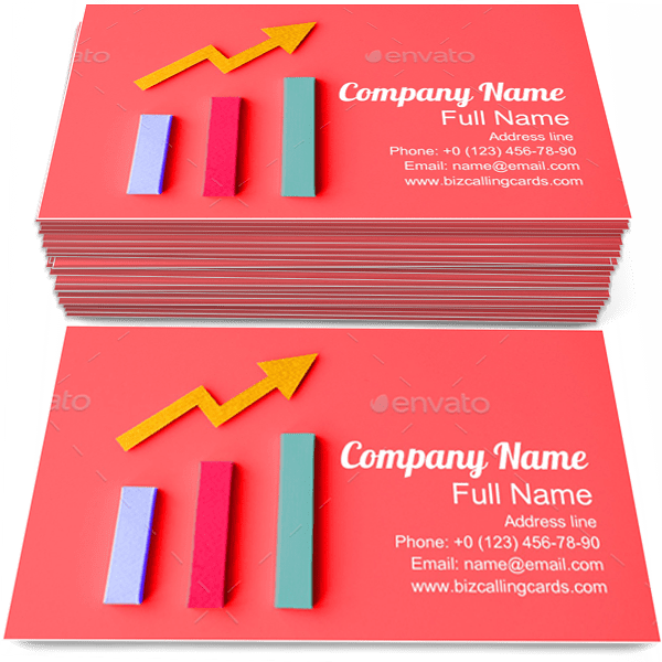 Sample of Diagram business card design for advertisements marketing ideas and promote accounting branding identity