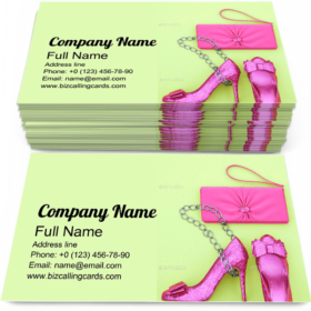 Stylish Handbag Clutch Business Card Template