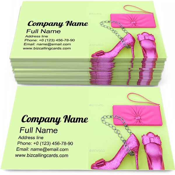 Sample of Clutch calling card design for advertisements marketing ideas and promote Boutique branding identity