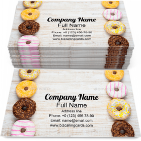 Sweet Doughnuts Cakes Business Card Template