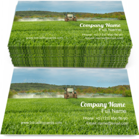 Tractor Spraying a Field Business Card Template