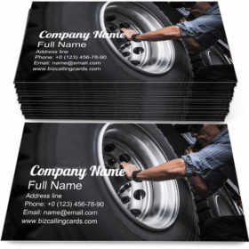 Trucking Wheels Check Business Card Template