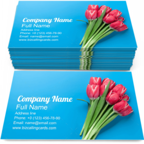 Tulip Flowers Bouquet Business Card Template