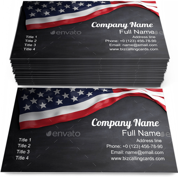 United States Flag Business Card Template