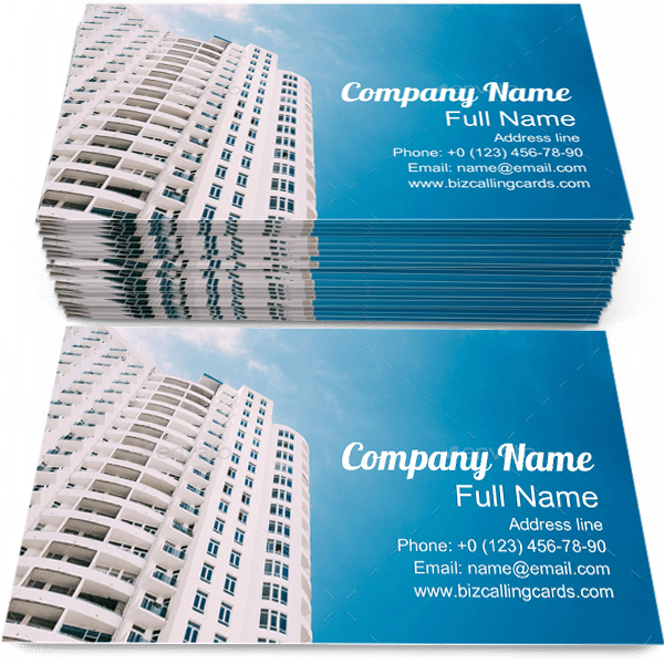Sample of Urban Residential calling card design for advertisements marketing ideas and promote Architectural branding identity