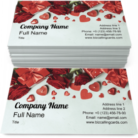 Valentine's Day Gifts Business Card Template