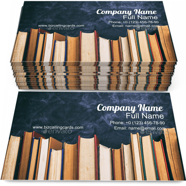 Vintage Books on Board Business Card Template