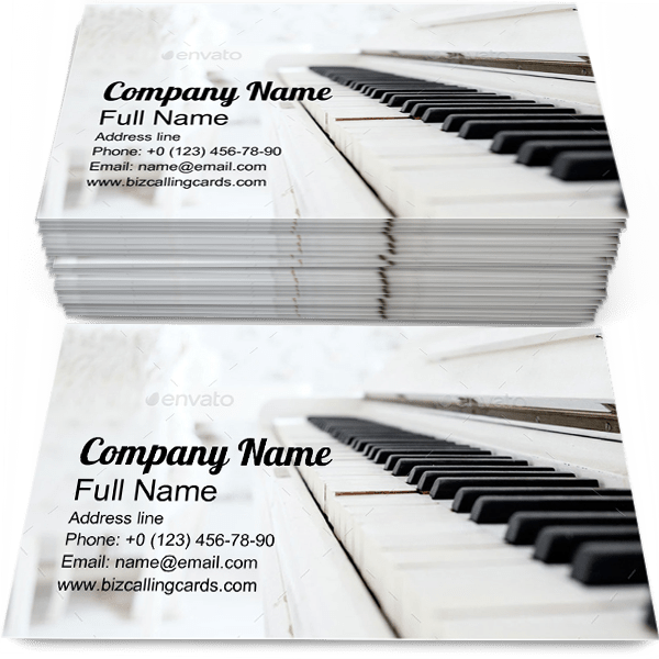 Create Online Vintage Piano In A Room Business Card Template
