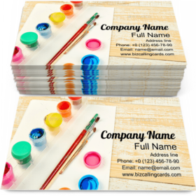 Watercolor Palettes Business Card Template