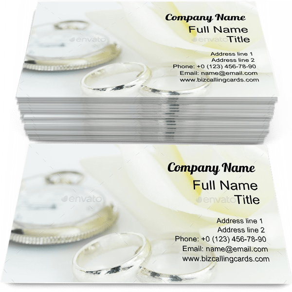 Sample of Ring with Clock business card design for advertisements marketing ideas and promote jewelry branding identity