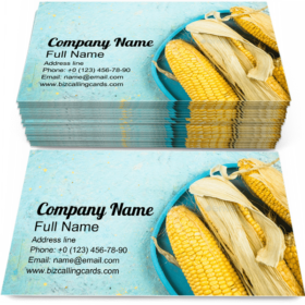 Whole Corn Cob Business Card Template