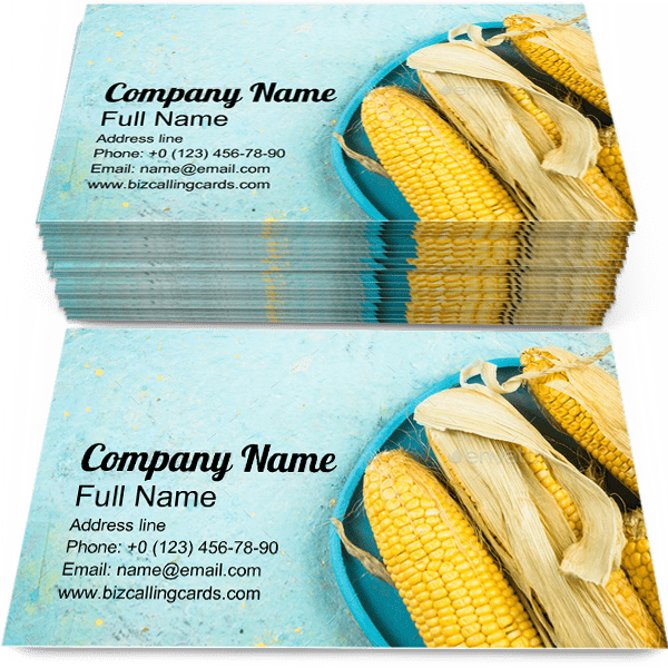 Create Online Whole Corn Cob Business Card Template
