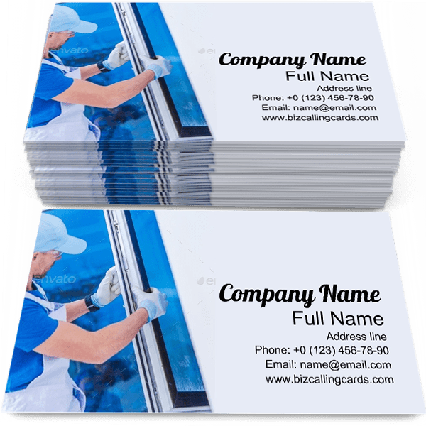 Sample of Window Installation calling card design for advertisements marketing ideas and promote Construction branding identity