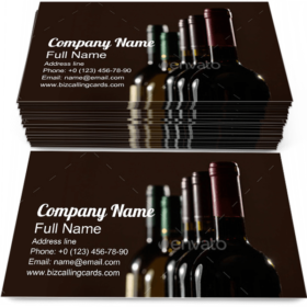 Wine Bottles Collection Business Card Template