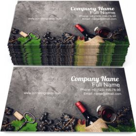 Wine Composition Business Card Template