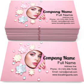 Woman Perfect Skin Business Card Template