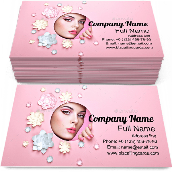 Sample of Perfect Skin business card design for advertisements marketing ideas and promote Make-up branding identity