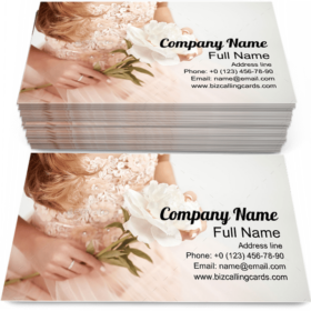 Woman with a Peony Business Card Template