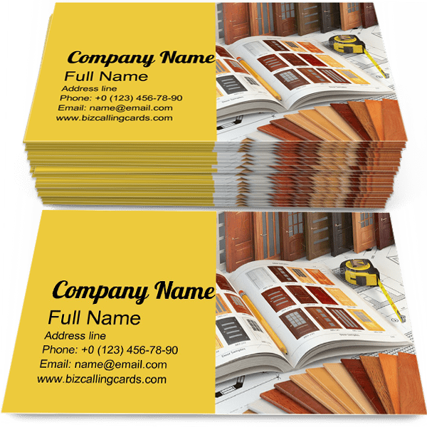 Sample of Doors business card design for advertisements marketing ideas and promote merchandise indoor branding identity