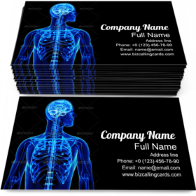 X-Ray with Spinal Cord Business Card Template