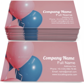 Helium Balloons Business Card Template