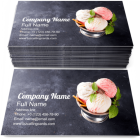 Ice Cream Scoops Business Card Template