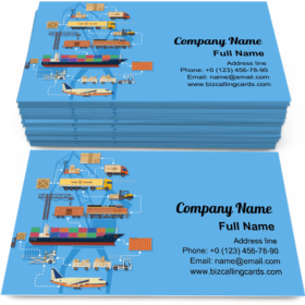 Logistics Infographics Business Card Template