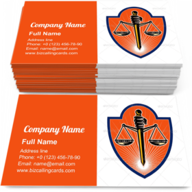 Scales of Justice Sword Business Card Template