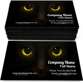 Scary Cats Snout Business Card Template
