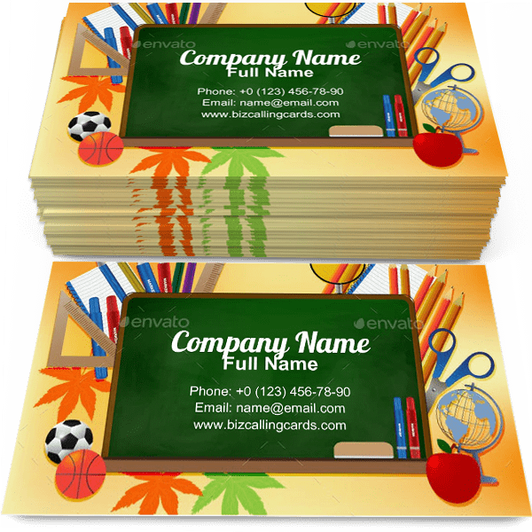 School board Business Card Template